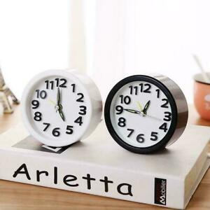 Creative Square Round Alarm Clocks Bedside No Tick Silent Snooze Small S7J7 $7.78
