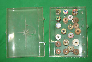 Vintage Thread Box w 21 Spools of Thread $7.00