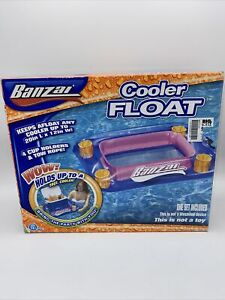 Brand New Banzai Cooler Float W 4 Cup Holders amp; Tow Rope FREE SHIPPING