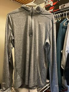 Men's Gray Nike Running Halfzip Dri fit Size M $17.80