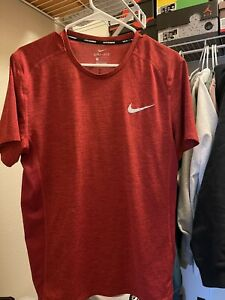 Men's Nike Running Red Tee Size Large Dri Fit $18.00