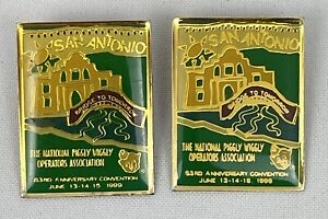 PIGGLY WIGGLY Convention Pins San Antonio 1999 National Operations Assoc. j3 $24.99