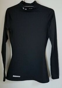 Under Armour Cold Gear Mock Turtleneck Black Womens Fitted Size XS Very Nice $15.99