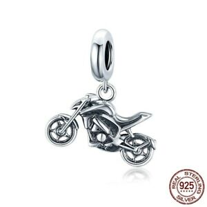 Fashion Women Authentic 925 Sterling Silver Motorcycle Charms Bead fit Bracelet $19.99