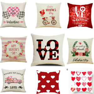 18quot; Valentine#x27;s Day Pillow Case Gnomes Peach Skin Throw Cushion Cover Sofa Decor $5.49