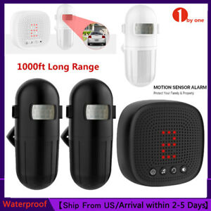 New Version 1000ft Rang Wireless Driveway Alarm Alert Motion Sensor Detector US $35.99