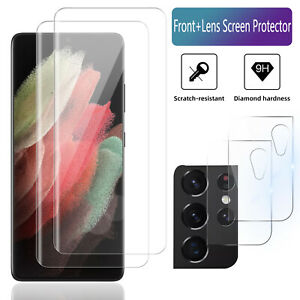 For Samsung Galaxy S21 Plus Ultra 5G Camera Lens Tempered Glass Screen Protector $10.95