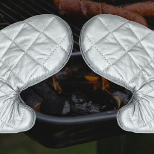 Anti hot Cooking Microwave Oven Mitts Heat Resistant Baking Gloves Protect Tool $14.19