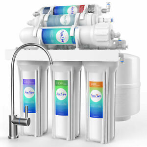 6 Stage 100GPD Alkaline Reverse Osmosis RO Drinking Water Filter System Purifier $143.99