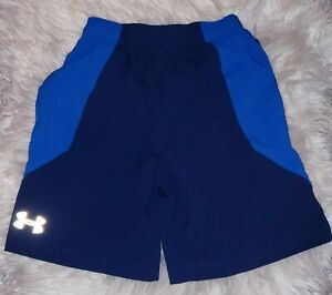 Under Armour Shorts Boys Youth Small Blue $14.00