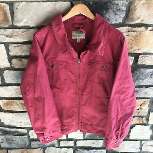 Cabela#x27;s Canvas Style Work Jacket Pink Outdoors Hiking Camping Women#x27;s Large