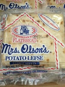 Mrs. Olsons Potato Lefse $6. 9.6 oz Norwegian Style US SELLER