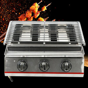 Portable Camping Kitchen Gas 3 Burner Unit Outdoor Cooking Grill Barbecue SALE