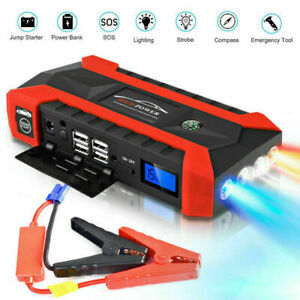 Car Jump Starter 20000mAh Portable Charger Power Bank with LED Flash Light $14.97