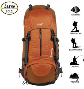 60L Outdoor Hiking Camping Backpack Bag Travel Mountaineering Trekking Day VE