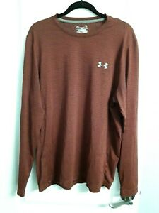 Mens Under Armour Knit Shirt Size Large Loose fit Burgundy $10.00