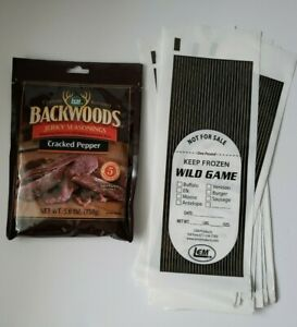 Backwoods Jerky Seasonings CRACKED PEPPER for 5 Pounds of Meat w 5 Game Bags