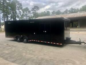 NEW 8.5X28 ENCLOSED CAR HAULER TRAILER 7K TORSION AXLES 8.5 x 28