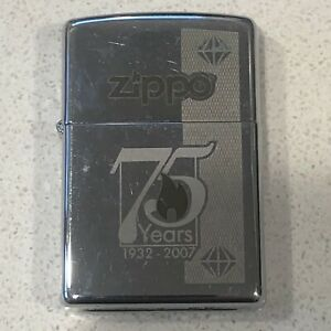 Zippo 75th Anniversary Edition Mirror Plating 1932 2007 Lighter $49.95