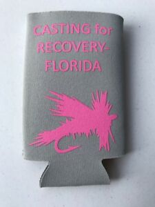 Casting For Recovery Fly Fishing Pink Coozie Koozie Breast Cancer Awareness Gift