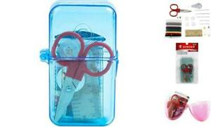 Sewing Kit Travel Mini Scissors Threads Tape Measure Needles Safety Pins Multico $12.14
