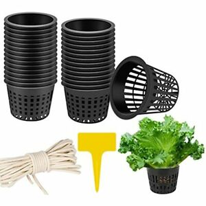 Lattook Plant Nursery Net Pots 30 Pack Inch Garden Slotted Mesh Cups 10 Labels