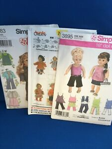 Doll Clothes Patterns Sewing NEW $12.00