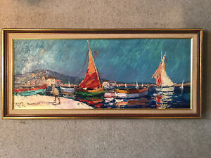 seascape oil painting original signed $80.00