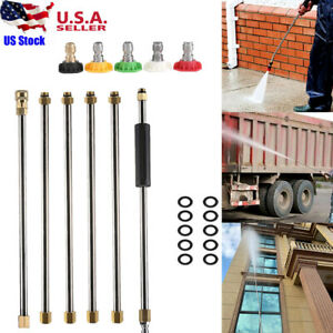 High Pressure Washer Gutter Cleaner Attachment Extension Wand Spray Nozzle 1 4#x27;#x27; $22.98