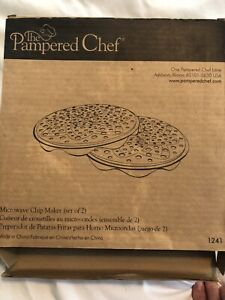 The Pampered Chef Microwave Chip Maker #1241 Set Of 2 In Original Box