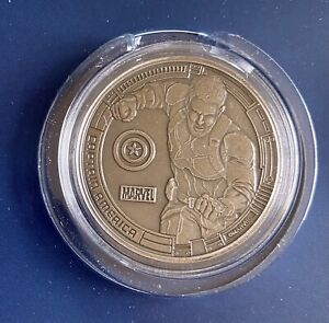 Marvel Avengers CAPTAIN AMERICA Collectible Coin Licensed Rare MINT Limited 5000 $18.89