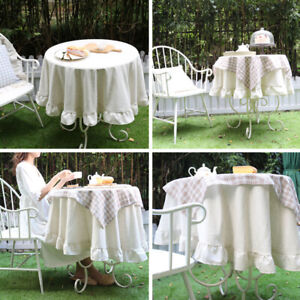 Outdoor Garden Coffee Party Tablecloth Square Round Kitchen Dining Table Cloth C $68.33