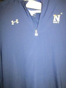 PULLOVER Navy Under Armour XL Loose Coaches $50.00