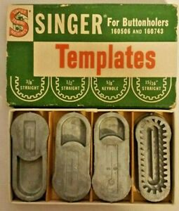singer for buttonholers 160506 160743 templates part 160668 vintage sewing item $15.00