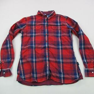 Kuhl Shirt Womens Small Camping Hiking Fit Button Up Check Long Sleeve Outdoor