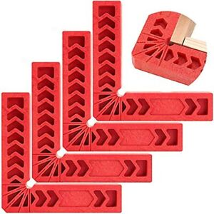 ZOENHOU 4 Pack Inch 90 Degree Positioning Squares Right Angle Clamps Carpentry