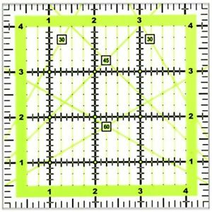 UOOU Quilting Ruler 4.5amp;quotX4.5amp;quot Square Rulers Fabric Cutting Acrylic 1 $14.11