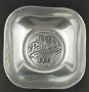 Wilton RWP Commemorative Bowl San Diego Padres 1969 1999 Armetale Pewter 9 In. $27.49
