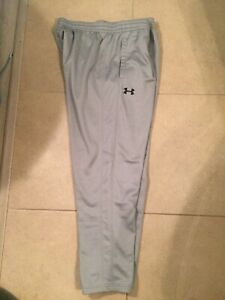 Mens Under Armor Cold gear light gray athletic sweatpants Size XXL $30.00