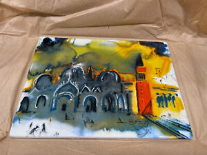 Salvador Dali 1904 1989 Place Saint Marc a Venice. Limited Edition amp; Numbered $425.00