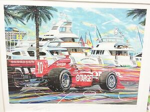 Randy Owens Along the Waterfront Limited Edition Print Signed Dan Wheldon #10 $895.99