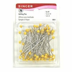 Singer Color Head Quilting Pins 75 Count $12.01