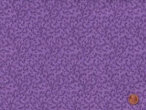 100% Quilting Sewing Cotton Fabric PURPLE Fancy FLORAL Print BTY $11.25