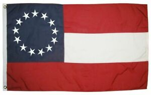 1st National Confederate Flag 3x5 2 Ply Polyester 13 Stars HIGH QUALITY NEW
