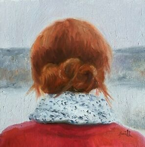 Jackie Smith Impressionist Romantic portrait young woman oil painting. GBP 99.00