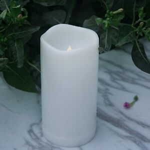 3x5 LED Flameless Candles with Timer Battery Operated Flickering Outdoor Decor