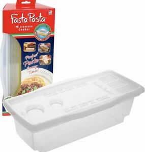 Microwave Pasta Cooker The Original Fasta No Mess Sticking or Waiting For Boil