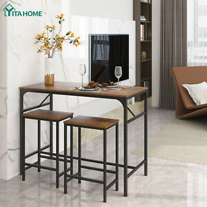 YITAHOME 3 PCS Modern Height Dining Set Table 2 Chairs Kitchen Bar Pub Furniture