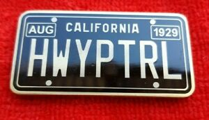 CALIFORNIA HIGHWAY PATROL LICENSE PLATE CHALLENGE COIN CHP LAPD POLICE $15.00