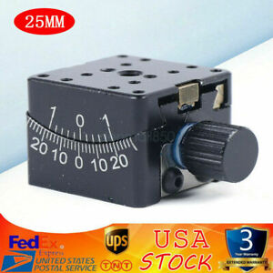 Precise Manual Goniometer Stage Dovetail Platform Optical Sliding Table 25*25mm $130.00